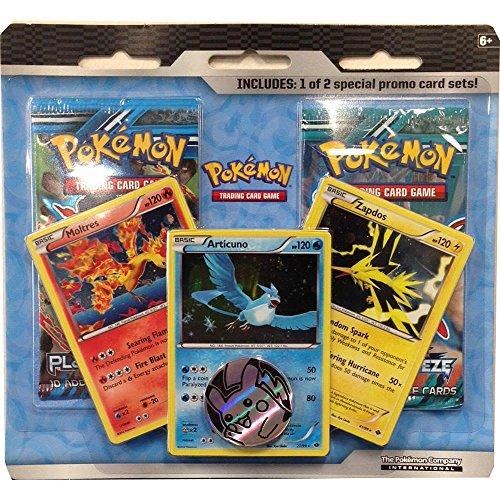 Pokemon GO TCG Legendary Birds Gift Set Featuring Articuno for Team Mystic Moltres for Team Valor Zapdos for Team Instinct w 2 Booster Packs Next Destinies Plasma Blast or Plasma Freeze 3-2-1