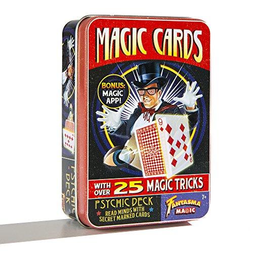 Fantasma Retro Magic Cards - Psychic Deck with over 25 Magic Tricks and Bonus Magic App