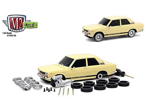 DIECAST 124 Model-KIT AUTO-Japan - 1970 Datsun 510 Cream 47000-06 M2