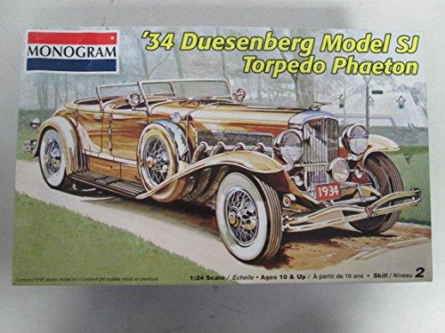 Monogram 34 Duesenberg Model SJ Torpedo Phaeton 124 Model Kit