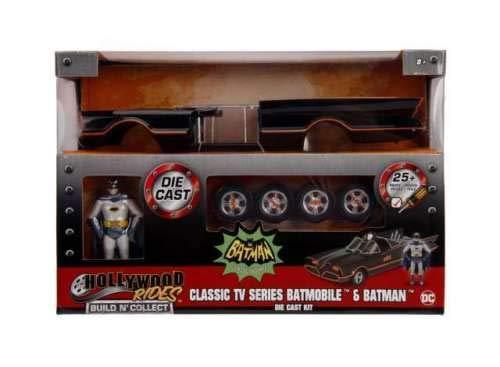 New DIECAST Toys CAR JADA 124 Model-KIT - Metals - Hollywood Rides Build NCOLLECT - Batman Classic TV Series Batmobile Figure 30873