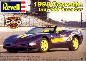 Revell 1998 Corvette Indy 500 Pace Car 125 Scale Model Car Kit