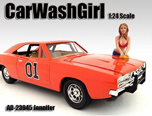 Car Wash Girl Jennifer Figurine  Figure For 124 Models by American Diorama 23945
