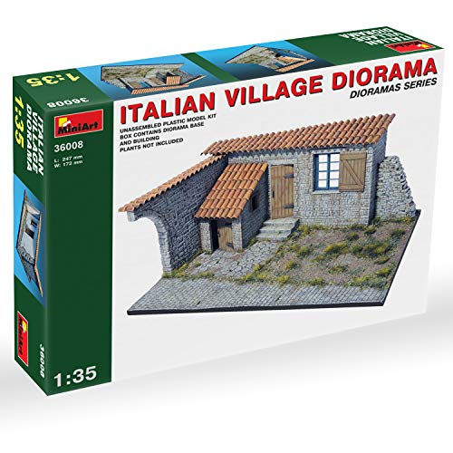 Plastic Model Kit - 135 Scale Military Diorama - Italian Village Diorama - WWII Model Kits for Adults - Military Models