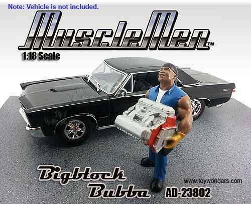 American Diorama Figurine Musclemen Series I - Bigblock Bubba Figure 118 scale Blue 23802 diecast motorcycles and cars