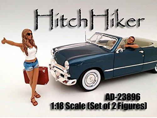 Hitchhiker Set of 2 Figures American Diorama Figurine 23896 - 118 scale