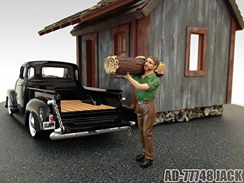 Logger Jack Figure Green - American Diorama Figurine 77748 - 124 scale