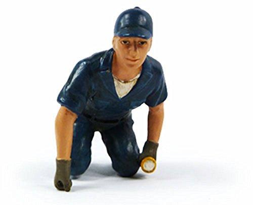 Tow Truck Driver Scott Figure Blue - American Diorama Figurine 23793 - 118 scale