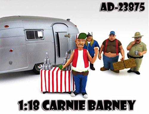 Trailer Park Figures Series 1 Carnie Barney American Diorama Figurine 23875 - 118 scale