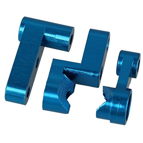 Mxfans 1Set M611 Blue Aluminum Alloy Upgrade Steering Servo Saver for HIMOTO E18XB E18XBL E18DB E18DBL E18MT E18OR E18ORL RC118 Model Car