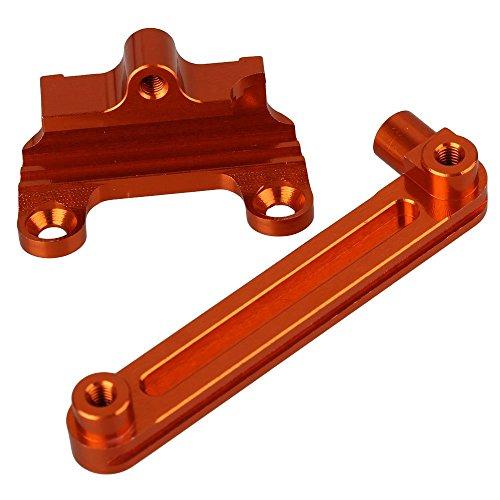 Mxfans 2pcs K949-006 Orange Aluminum Alloy Upgrade Steering Servo Saver for WL-K949 RC110 Off Road Model Car