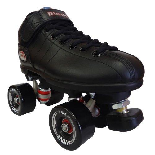 Riedell R3 Zen Black Outdoor Speed Skates - R3 Zen Roller Derby Skate