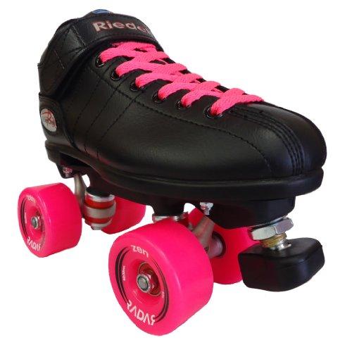 Riedell R3 Zen Pink Outdoor Speed Skates - R3 Zen Roller Derby Skate