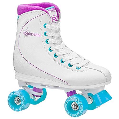 Roller Derby Womens Roller Star 600 Quad Skates - U725W WhiteLavender - 08
