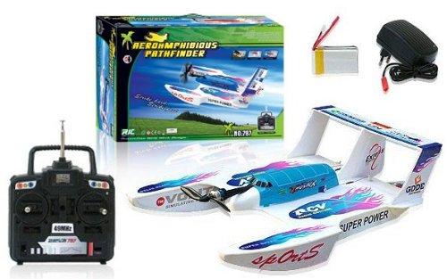 26 RTF Hydroglider 4ch Rc 3-in-1 Boat Plane Vehicle Hydrofoam Wbalance Charger