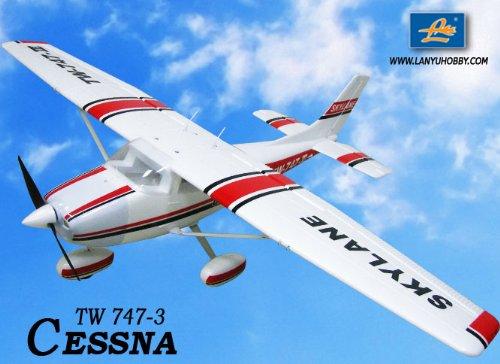 New 6 CH 24GHz Cessna 182 Skylane Radio Remote Control RC Airplane RTF w EPO Durability  With Flaps