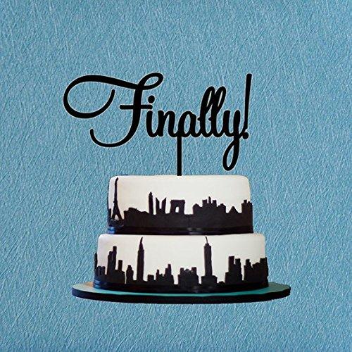 Finally Wedding Cake TopperCustom Cake TopperUnique Design Cake