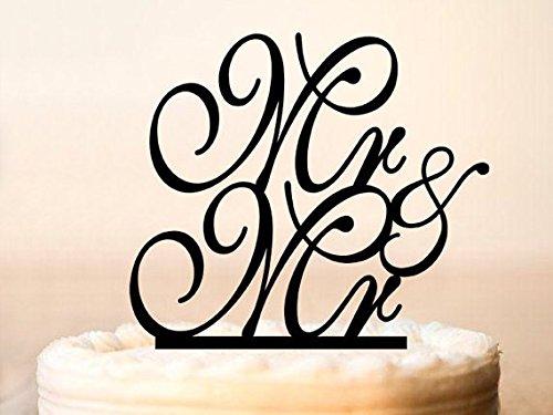 MR and MR Wedding Cake TopperGay Cake TopperCustom Gay Cake TopperCake Topper for GayGay Party Cake TopperGay Monogram cake topper