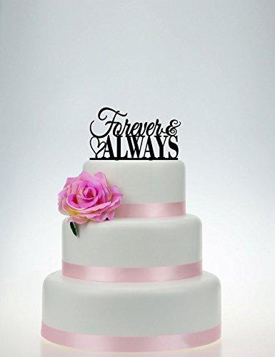 Wedding Cake TopperForever Always cake topperCustom Cake Topper