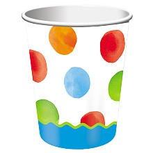 Creative Converting Big 1 Dots - Boy Cups - 8 ct