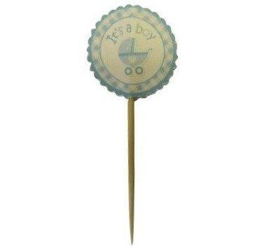 Organza Plus Corp Its a Boy Cupcake Topper