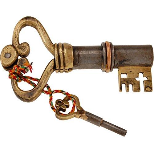 Key Shaped Iron Brass Puzzle Lock