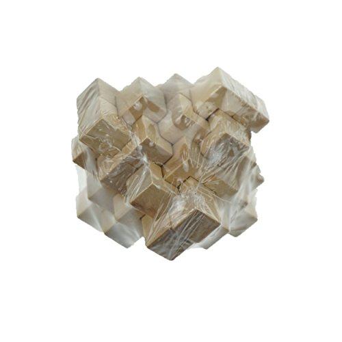 Shxstore Kongming Luban Wooden Lock Puzzle 24 Wooden Sticks Magic Cube Intelligence Toy