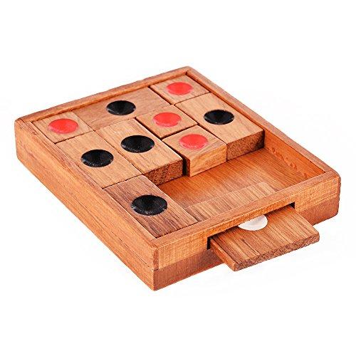 TwisterCK Wooden Klotski Sliding Block PuzzleHandmade Wooden PuzzlesA Classic 3d Wooden Brain Teaser with aAn Advanced Klotski Hua Raung Dao Puzzle for Adults