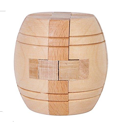 Wooden Brain Puzzle Cube Kongming Locks JTKMS-01