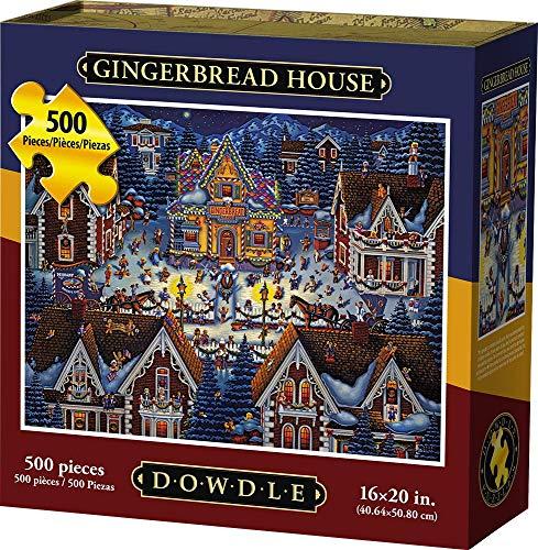 D·O·W·D·L·E Dowdle Jigsaw Puzzle - Gingerbread House - 500 Piece