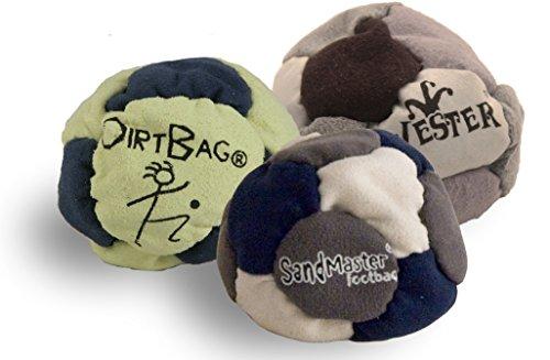 Best Footbags 3 Pack - Set of Three Footbag Favorites Hacky Sacks Assorted Colors