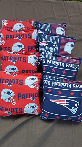 New England Patriots Cornhole Bean Bags set of 8 Tournament Regulation