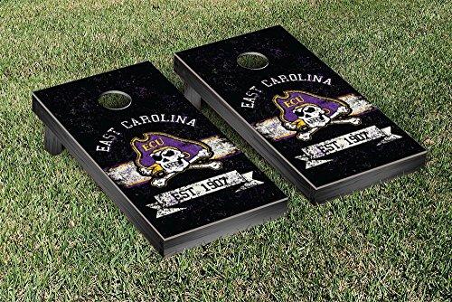 East Carolina Pirates Cornhole Game Set Banner Vintage Version