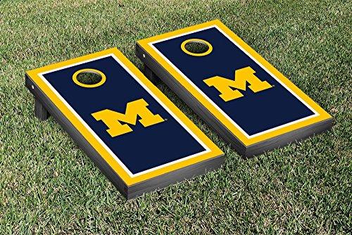Michigan Wolverines Cornhole Game Set Border Version 1