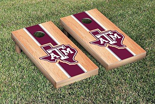 Texas A&M University Aggies Cornhole Game Set Hardcourt Stripe Version