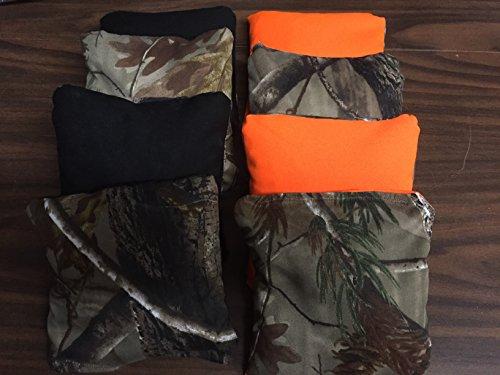 Black Orange Camo ACA Regulation Cornhole Bags