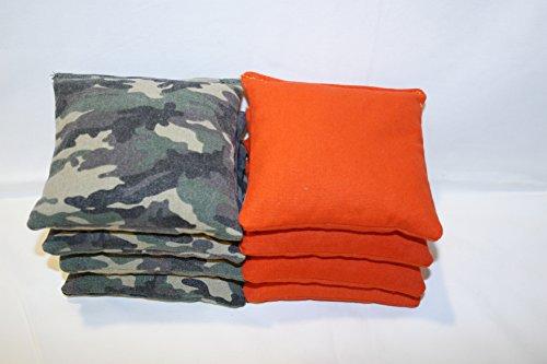 Regulation Cornhole Bags Set of 8 Camouflage and Orange by Free Donkey SportsÂ