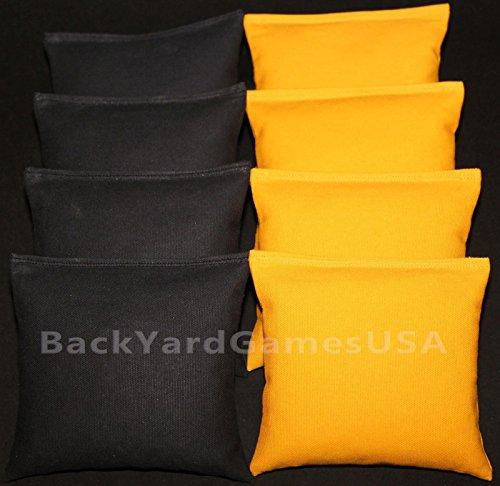 Steelers Cornhole Bean Bags Black Yellow 8 Aca Regulation Corn Hole Bags Iowa