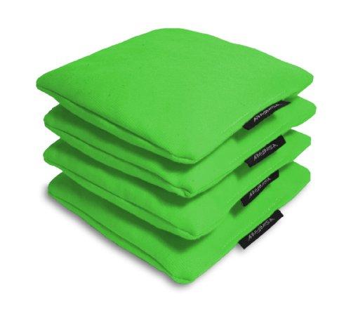 Surefire Traditional Regulation Cornhole Bags Duck Cloth Corn-filled 16 oz - Set of 4 Lime