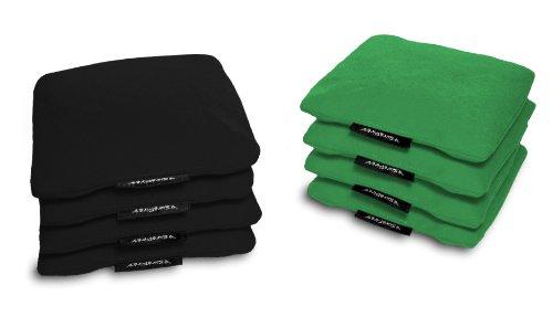 Surefire Traditional Regulation Cornhole Bags Duck Cloth Corn-filled 16 oz - Set of 8 Black  Green