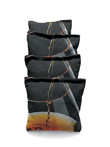 Cognac in Glass 2 Standard Custom Corn Hole Bags Cornhole Bags