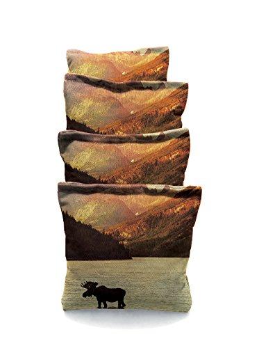 Moose in the Water 3 Standard Custom Corn Hole Bags Cornhole Bags