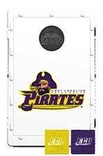 Baggo Bean Bag Toss Game with College Team Logo East Carolina Pirates