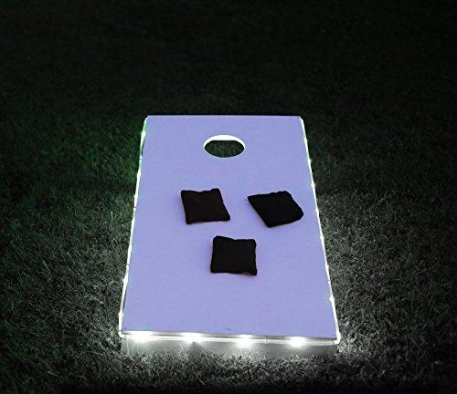 Brightz Ltd White Toss Brightz LED Lights Cornhole Board Accessory
