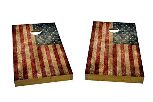 Custom Cornhole Boards Worn American Flag Cornhole Boards Heavy Duty 2 X 4