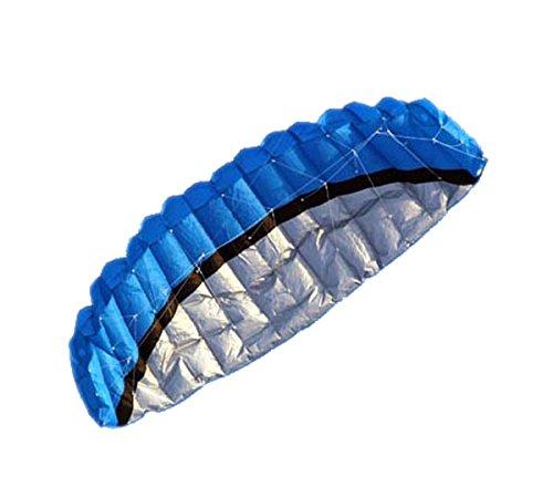 25m Dual Line Control Parafoil Foil Parachute Outdoor Park Beach Kite Blue