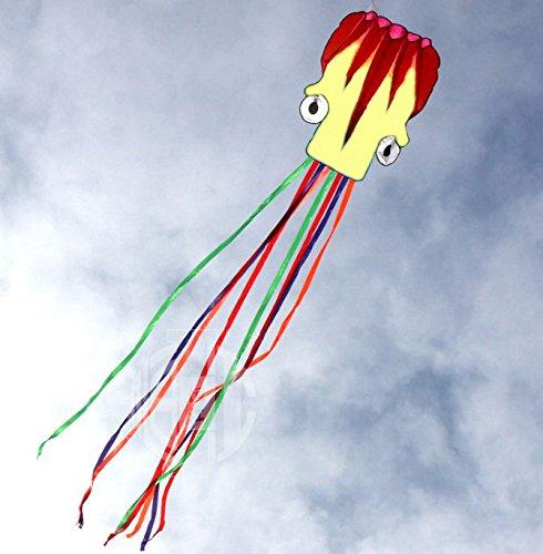 5M Large Octopus Parafoil Kite with Handle String Beach Park Garden Outdoor Fun