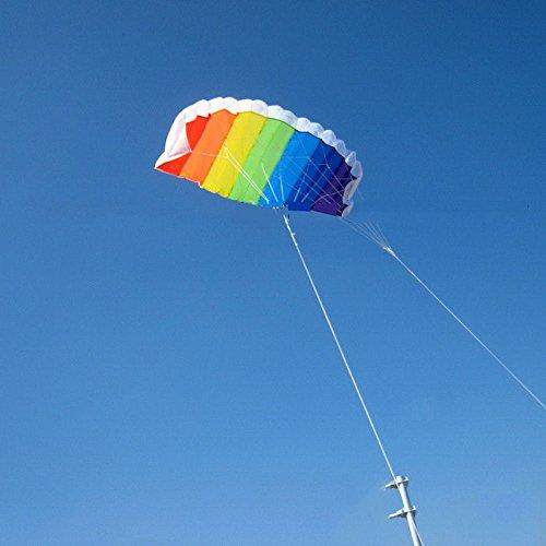 Sangdo NEW 3m118 Rainbow Power Dual Line Stunt Parafoil Parachute Beach Kite Beginner