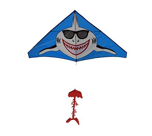 Shark Kite Gangnam Style Giant Delta String and Handle included Easy Flyer Summer fun beach kite
