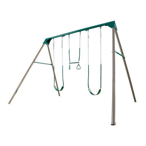 Lifetime 290038 Heavy Duty A-Frame Metal Swing Set Earthtone